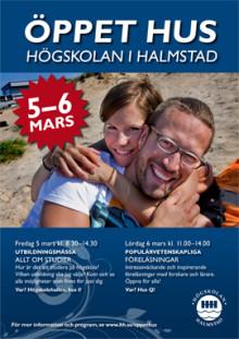 Högskolan i Halmstad bjuder in till öppet hus