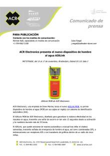 ACR Electronics presenta el nuevo dispositivo de hombre al agua AISLink
