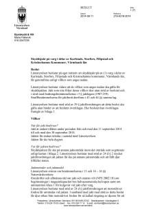 Beslut om skyddsjakt på varg i Karlstads, Storfors, Kristinehamns och Filipstads kommuner