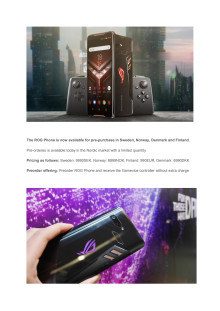 ASUS ROG Phone Pressrelease - Eng version