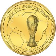 Fotbolls-VM i Brasilien uppmärksammas med Minnesmynt och -medaljer