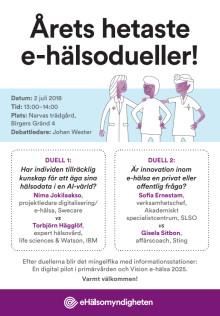 Inbjudan till e-hälsodueller i Almedalen