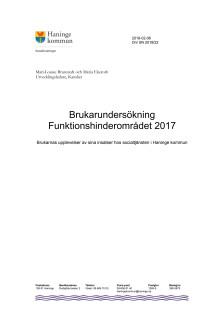 Rapport brukarundersökning  individ- och familjeomsorg (IFO) 2017 [PDF]