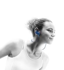 Les écouteurs intra-auriculaires Bluetooth sport EXTRA BASS de Sony, compagnons idéaux durant l'effort.