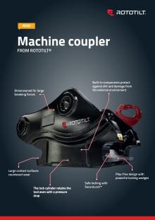 Product sheet machine coupler from Rototilt, English