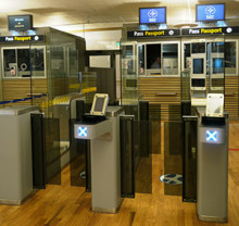 Self-service passport control at Oslo Airport