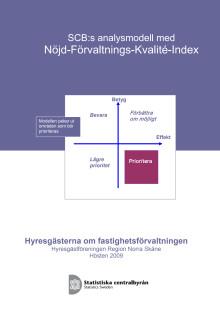 Hyresgästerna om fastighetsförvaltningen i region Norra Skåne (SCB, 2009)