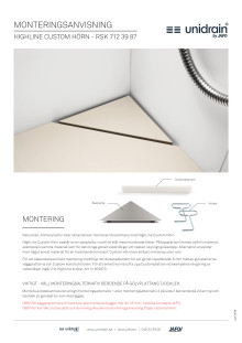 unidrain® Custom Hörn - Monteringsanvisning