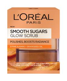 L'Oréal Paris Smooth Sugars -sokerikuorintasarja kasvoille ja huulille  lumoaa ja puhdistaa