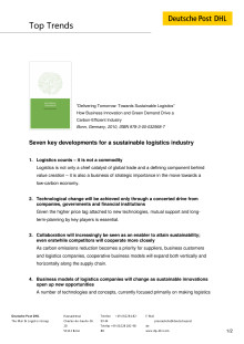 Study Sustainable Logistics_Key Developments
