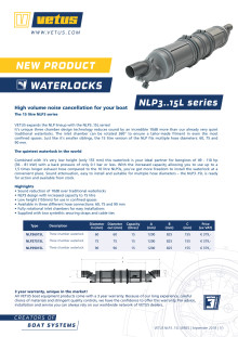 VETUS NLP3..15L series of waterlocks - Information Sheet