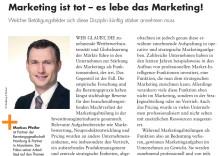 """""""Marketing ist tot - es lebe das Marketing!"""" - Gastbeitrag von Markus Pfeifer"""