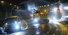 Svevia tvättar Stockholms tunnlar