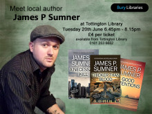 Meet thriller writer James P. Sumner at Tottington Library