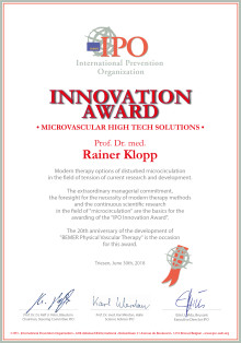 INNOVATION AWARD from IPO for Microvascular Hightech Solutions