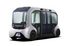 Spesialdesignet Toyota «Tokyo 2020-utgave» av e-Palette sørger for automatisert mobilitet for utøverne