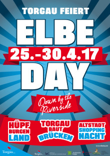 Plakat ELBE DAY Torgau 25.-30.04.2017