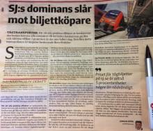 Debattartikel i Svenska Dagbladet