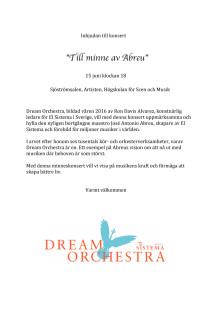 Inbjudan till konsert med Dream Orchestra