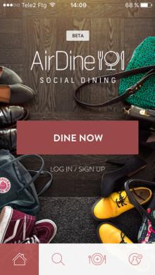 Nu kommer Airdine – hitta hemmamiddagen med världsnyheten från Göteborg