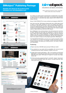 BIMobject Publishing Package  - Flyer