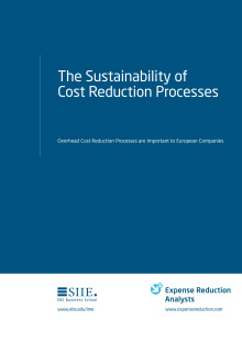 The Sustainability of Cost Reduction Processes
