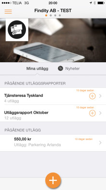New version of Company Expense app includes features for easy registration of milage and subsistence