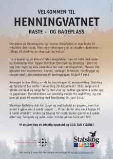Om Hemingvatnet raste- og badeplass i Steinkjer