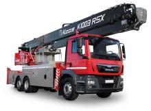 Kranlyft visar upp ny aluminiumlift på mässan