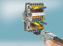 Kompakt skilleklemme med automatisk strømtransformerbeskyttelse