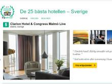 Malmöhotell korad som Sveriges 5e bästa hotell
