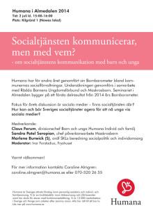 Socialtjänsten kommunicerar, men med vem?