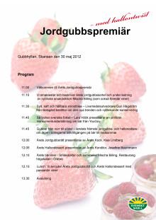 Program Jordgubbspremiären 2012