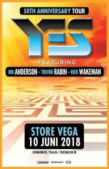 "YES - featuring Jon Anderson, Trevor Rabin, Rick Wakeman ""50th anniversary tour"" / koncert i VEGA 10. juni"