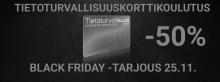 Black Friday ja tietoturvallisuuskorttikoulutus -50%