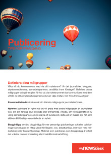 Publiceringstips Mynewsdesk