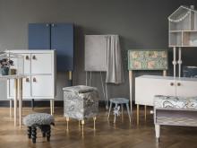 Prettypegs och Myrorna auktionerar ut 10 möbler omdesignade av influencers till förmån för arbetet mot människohandel.