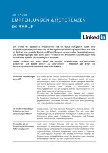 Leitfaden: Empfehlungen und Referenzen im Beruf