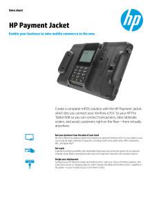 HP Payment Jacket Dataark