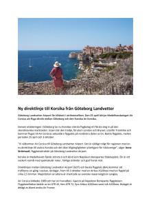 Ny direktlinje till Korsika från Göteborg Landvetter