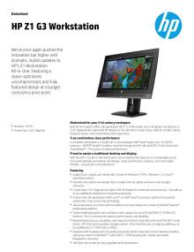 HP Z1 G3 Datasheet eng