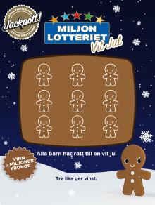 Miljonlotteriet bidrar till att fler barn får fina julminnen