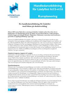 Handledarutbildning för Läslyftet – Kursplanering ht15-vt16