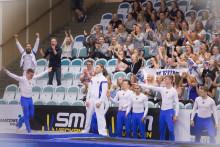 Spektakulära prestationer på SM i truppgymnastik