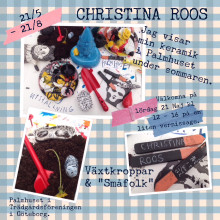 """Växtkroppar & """"småfolk"""", Christina Roos – illustrativ keramiker ställer ut i Palmhuset i Trädgårdsföreningen i Göteborg"""