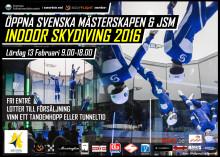 SM i Indoor Skydiving den 13 februari i Bromma, Stockholm