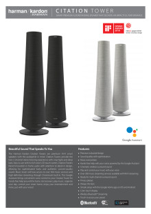 Harman Kardon Citation Tower_Spec sheet