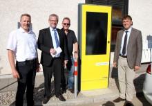Neue E-Ladesäule des Bayernwerks in Schwandorf installiert
