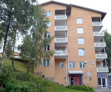Inflyttningsdags i nytt trygghetsboende på Margaretagatan i Borås