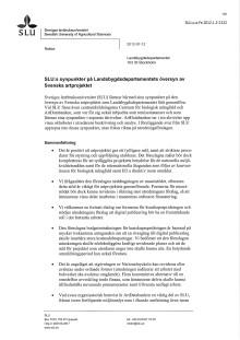 Länk till SLU-ledningens svar till utredningen